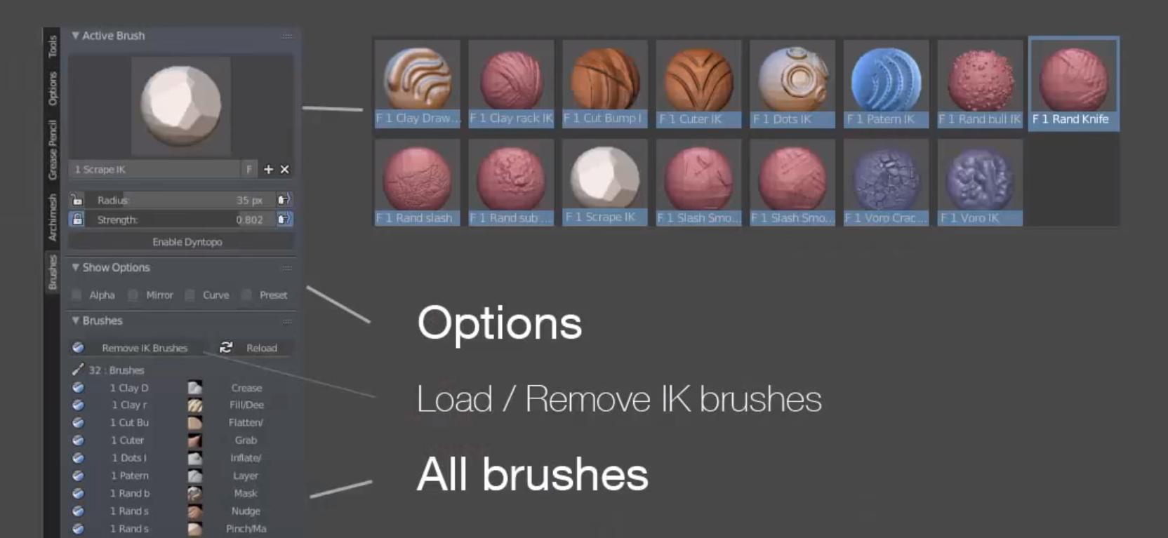 Free B3D Brushes